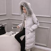 羽絨外套 中長款-時尚毛領修身保暖女夾克4色73it209【時尚巴黎】