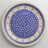 波蘭陶 紅點藍花系列 圓形餐盤 27cm 波蘭手工製