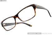GUCCI 光學眼鏡 GG3570 WR9 (琥珀) 名品時尚經典LOGO百搭款 # 金橘眼鏡