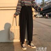 春季女裝韓版寬鬆百搭直筒褲休閒褲高腰九分褲蘿卜褲學生褲子『小淇嚴選』