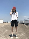 工裝短褲女夏季港味運動五分褲休閒中褲