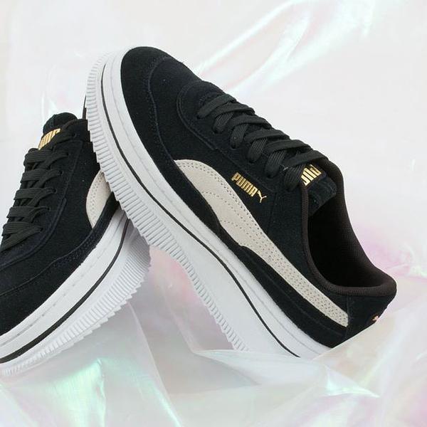 M-PUMA Deva Reptile Wns 黑米白 基本 金標 女鞋 運動鞋 厚底 Jolin著用 休閒鞋 蔡依林 新品 增高 37242303