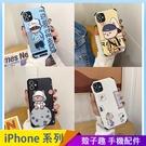 潮牌熊兔 iPhone 12 mini iPhone 12 11 pro Max 浮雕手機殼 創意個性 保護鏡頭 全包蠶絲 四角加厚