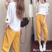 夏裝2019新款女裝夏季韓版時尚兩件套氣質潮夏天休閒運動時髦套裝 俏girl