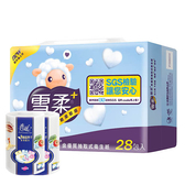 【雪柔】金優質抽取式衛生紙100抽x28包x3串/箱加春風廚紙x2顆(隨機)-箱購