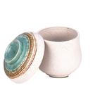 [堯峰陶瓷 ] 日式餐具 綠如意系列 茶碗蒸碗(單入) 免運 燕窩燉盅 帶蓋燉盅 蒸蛋盅 套組餐具系列