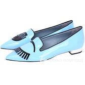 Chiara Ferragni Flirting 新改版眨眼漆皮尖頭鞋(天空藍) 1610056-27