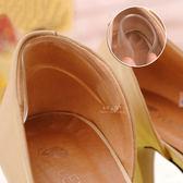 防磨矽膠厚跟貼 防磨腳透明矽膠半碼後跟貼 半碼貼