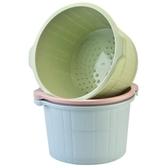 百露帶按摩泡腳桶冬季加高洗腳盆塑料加厚足浴盆足浴桶洗腳桶 居享優品