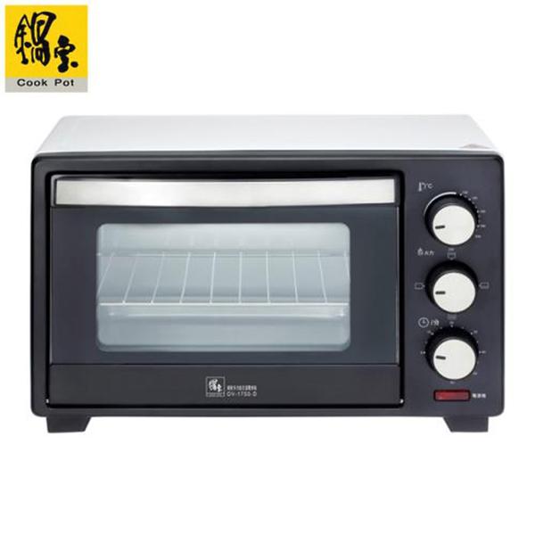 【CookPot 鍋寶】17L 多功能定溫電烤箱 OV-1750-D