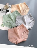 女士內褲女純棉100%全棉襠抗菌大碼蕾絲中腰無痕夏薄款透氣三角褲 (pinkq 時尚女裝)