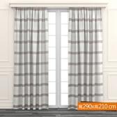 橫條色織窗紗 寬290x高210cm 米咖色款
