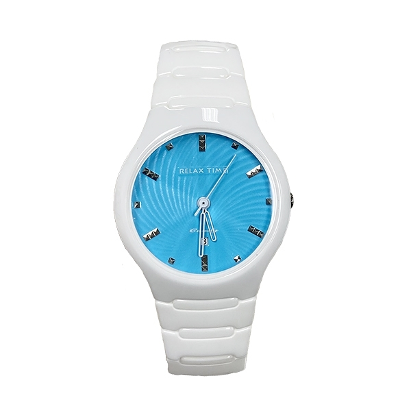 【Relax Time】馬卡龍系列時尚陶瓷腕錶-天空藍/RT-26-25/台灣總代理公司貨享一年保固