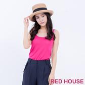 【RED HOUSE 蕾赫斯】雙色無袖針織背心(共2色) 任選2件899元