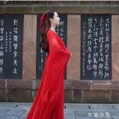 古典舞演出服女飄逸中國風涼涼舞蹈服裝現代仙女改良漢服古裝成人 千惠衣屋