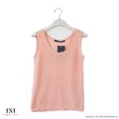 【INI】週慶限定、鄉村無印風格針織多色背心.粉色