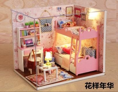 diy小屋公主房手工拼裝小房子模型玩具小屋創意生日禮物送朋友
