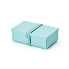 Uhmm Folding Lunch Box 18x10cm 丹麥生活系列 環保折疊式 長方形 午餐盒 - 薄荷綠束帶款(薄荷綠餐盒)