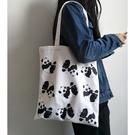 可愛的熊貓帆布包文藝小清新萌萌噠 - 古梵希