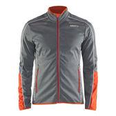 【速捷戶外】瑞典Craft 1904463 Soft shell 男防風保暖外套-(灰橘), 登山,滑雪 跑步 路跑 夜跑