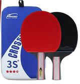 乒乓球拍正品初學者三四星單拍兵乓球拍直拍橫拍學生2只裝雙拍gogo購