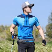 戶外速干衣男短袖T恤薄款冰絲彈力快干衣吸汗透氣運動登山徒步夏