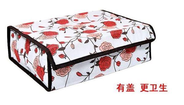 【協貿國際】20格玫瑰花軟蓋收納盒3入