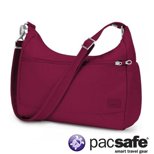 Pacsafe Citysafe CS200 休閒斜肩包-蔓越莓紅 側背包 旅遊 出國 防盜 20225310