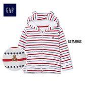 Gap男嬰兒 休閒風星條主題連帽長袖休閒外套 336709-紅色條紋