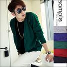 現貨 韓國製 素色百搭款薄針織罩衫【SA7107】-VENEZIA