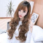 中長假髮韓系假髮女長捲髮大波浪韓系長髮蓬鬆自然可愛仿真頭皮假髮套