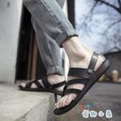 涼鞋男夏季休閒沙灘鞋透氣室外穿兩用涼拖鞋【奇趣小屋】