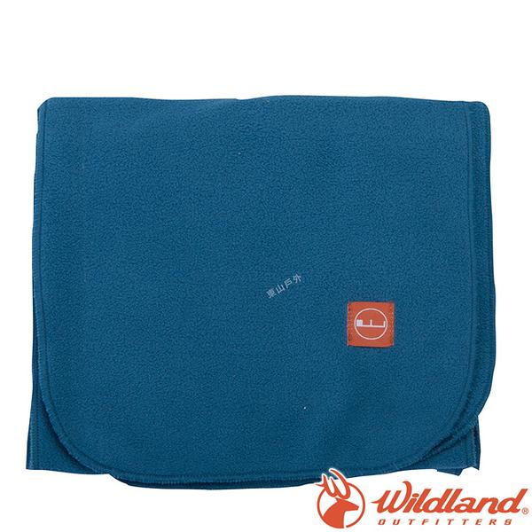 Wildland 荒野 W2010-65藍 中性柔軟PILE保暖圍巾 保暖脖圍/微抗靜電圍巾/搭配圍巾