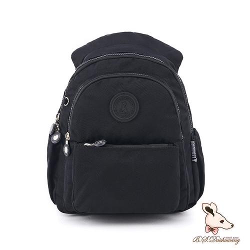B.S.D.S冰山袋鼠 - 時光旅人 - 知性學院風防潑水後背包 - 黑色【B0019-K】