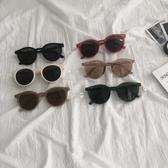 網紅墨鏡女ins新款韓版潮太陽眼鏡復古港風搞怪可愛圓臉街拍 韓國時尚週