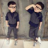 售完即止-男童禮服英倫小西裝1-3歲兒童紳士馬甲5男孩西服花童套裝庫存清出(5-21T)