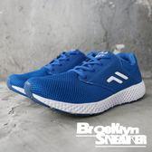 FILA 寶藍 白 輕量 透氣 慢跑鞋 運動鞋 男 (布魯克林) 1J311Q331