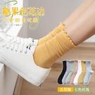木耳邊襪子女中筒襪白色夏季薄款