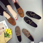 豆豆鞋春季女2018新款百搭韓版英倫風平底鞋