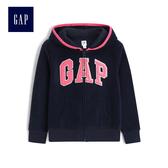 Gap女童 logo圖案長袖連帽休閒外套 473366-海軍藍色