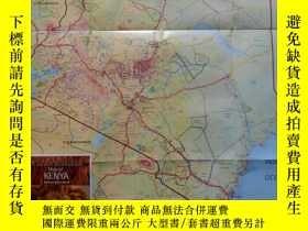 二手書博民逛書店Map罕見of KENYA肯尼亞地圖(肯尼亞旅遊局版)英文原版Y