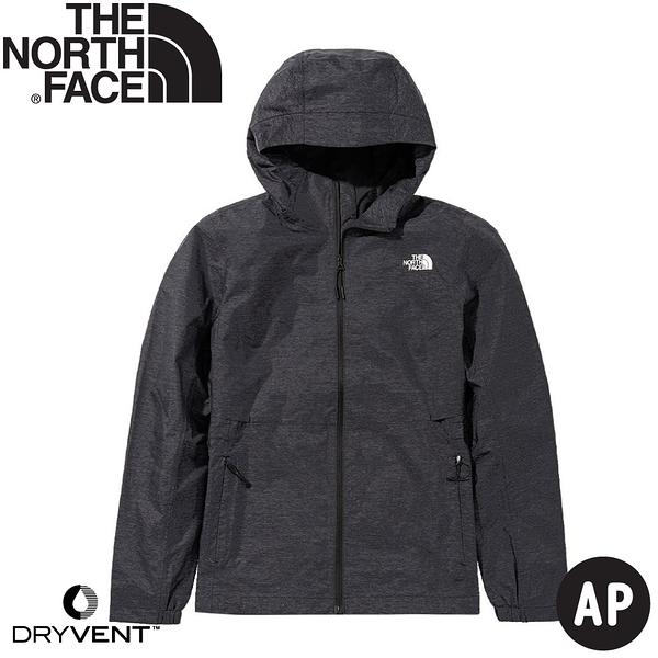 【The North Face 美國 女 DryVent防水外套《黑灰》】49B9/防水夾克/衝鋒衣/防風外套