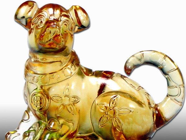 鹿港窯-居家開運商品-琉璃S十二生肖文鎮【狗】附精美包裝◆免運費送到家
