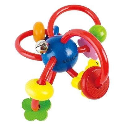 【佳兒園婦幼館】LOLLY 木製玩具-歡樂手搖鈴