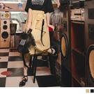 《KG1149-》絲綢緞面率性口袋設計A字長裙 OB嚴選