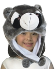 可愛動物帽浣熊頭套 兒童大人成人造型帽 萬聖節聖誕節  角色扮演服裝