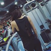 瑜伽服 運動背心健身寬鬆背心女無袖透氣速幹罩衫瑜伽上衣後背開叉夏季薄 店慶降價