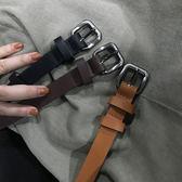 百搭基礎金屬針扣PU皮帶韓繫簡約學生純色腰帶 【店慶8折促銷】