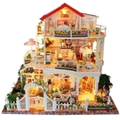 diy小屋 拼裝手工制作房子模型別墅天長地久男女情侶創意生日禮物【黑色妹妹】