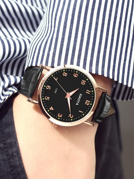 手錶男錶韓版簡約時尚潮流防水學生全自動非機械錶運動石英男士錶  夏季新品